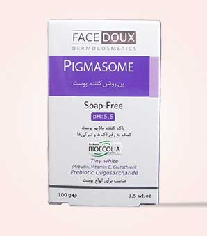 پن روشن کننده و ضدلک پیگمازوم فیس دوکس pigmasome face doux Face Doux Lightening Syndet Bar